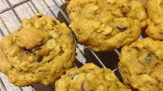 Pumpkin puree brings a colorful dimension to these tasty, chocolate chip oatmeal cookies.