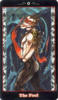 The Fool: Let go of expectations and trust your instincts.     Source:  The Fool Tarot Card - Vampire Tarot Deck