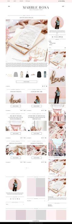 MarbleRose - Blogger Template & Theme  - Responsive Design Custom Blogger Design Responsive Blogger Template Blogger theme blogspot Template