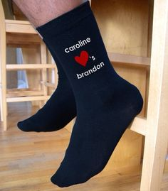 We have the perfect pair of socks for personalized gift giving! These socks make a great engagement or wedding gift too! Choose from ready to