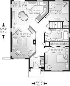 Rustic Home Plan First Floor - 032D-0082   House Plans and More