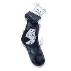 Lord Nermal Socks Black Tie Dye – RIPNDIP