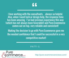 Read our client Patti's review of her experience with #Pure-Ecommerce. Another happy client!!!