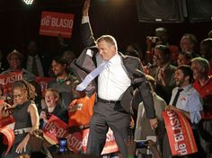 """Bill de Blasio on Election Night with Wife Chirlane McCray (bottom left)""""How Communism Works in Streets of NYC: Communist Party USA Announced It Will Slay the Right Wing"""" 