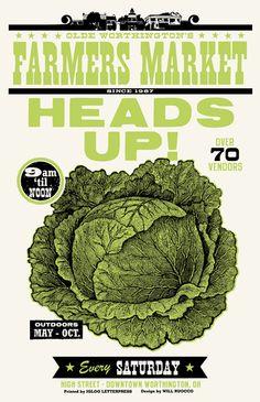 HEADS UP! Farmer's Market Poster on Behance