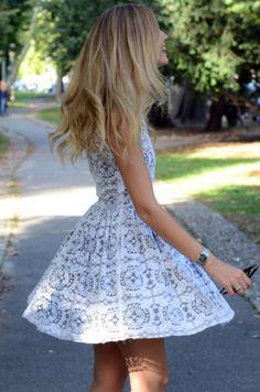 Perfect white lace sundress