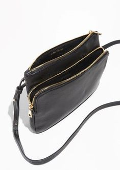 & Other Stories image 3 of Two-Compartment Leather Bag in Black