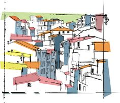 italian village experiment in colour v blocks | Flickr - Photo Sharing!