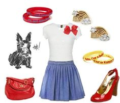 Cute Wizard of Oz outfit.