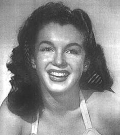 Norma Jeane. Blue Book Modelling portfolio photo, 1945.