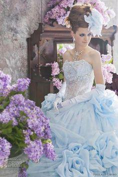 I like the top part....Stella de Libero Color Wedding Dresses   Wedding Inspirasi'