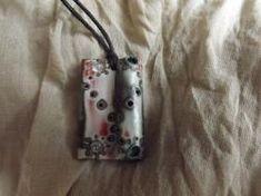 Collana con pendente realizzata in fimo.  Handmade jewelry - DIY  1177