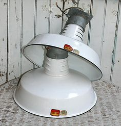 2 Antique Barn Lights RLM Dome Reflector Shades by KickassStyle, $195.00.....Corrin you see this price? Omg! I just got two for $1ea.