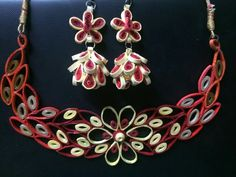 quilling jewellery set
