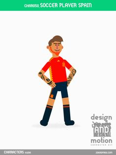 CHAR050_SoccerPlayerSpain. Part of D&M Character Kit.