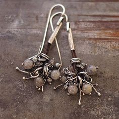 earrings with labradorite sterlig silver by ewalompe on Etsy, $54.00