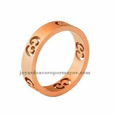 stainless steel fashion band ring in rose gold plated for women-SSRGG82958