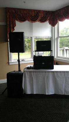Small DJ Setup - This was a Wedding at Martindale in Auburn, ME