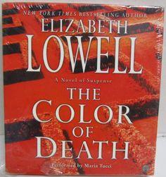COLOR OF DEATH LOWELL, Elizabeth 6Hr CD audiobook NEW (Maria Tucci) abridged