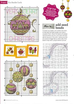Thrilling Designing Your Own Cross Stitch Embroidery Patterns Ideas. Exhilarating Designing Your Own Cross Stitch Embroidery Patterns Ideas. Cross Stitch Christmas Ornaments, Xmas Cross Stitch, Cross Stitch Needles, Cross Stitch Cards, Christmas Cross, Cross Stitching, Cross Stitch Embroidery, Embroidery Patterns, Christmas Minis