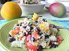 Mango Quinoa Black Bean Salad with  Zesty Orange Low Fat Dressing