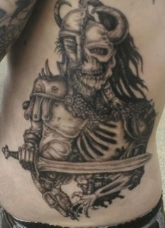 zombie viking tattoos – Tattoo Tips Viking Ship Tattoo, Viking Tattoos For Men, Love Tattoos, I Tattoo, Tattoos For Guys, Skull Tattoo Design, Tattoo Designs, Tattoo Asylum, Traditional Viking Tattoos