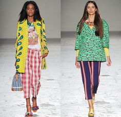 Stella Jean 2015 Spring Summer Womens Runway Looks - Milano Moda Donna Collezione Milan Fashion Week Italy - Haiti Prints Ethnic Folk Tribal Graphic Motif Culture Illustration People Burro Donkeys Fruits Shirtdress Maxi Dress Market Foliage Leaves Landscape Trees Watercolor Paintings Varsity Plaid Bus Poodle Skirt Bamboo Bananas Fruits Vegetables Houses Dots Townfolk Stripes Shorts Fish Coat Jacket Ribbon Bow Pencil Skirt