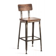 The Octane Bar Stool is perfect for taking a seat at the soda fountain, the local speak-easy, or your retro-glam kitchen. It comes in a shiny gunmetal finish with a soft, upholstered leather seat. Saddle Bar Stools, Tall Bar Stools, Counter Stools, Dining Room Blue, Dining Rooms, Industrial Bar Stools, Industrial Interior Design, Metal Stool, Bar Seating