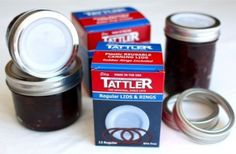 Tattler Reusable Regular Canning Lids and Rubber Rings - 12 Pack: Amazon.com: Kitchen & Dining