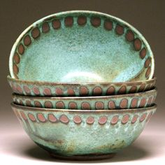 Handcrafted Pottery Bowls from Mangum Pottery