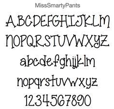 miss smarty pants font