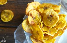 Just a plantain chip waiting for the perfect dip.