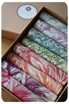 Boxed Gift Set of Tea-towels - Abigail Ryan.     So ridiculously expensive though... about $160.