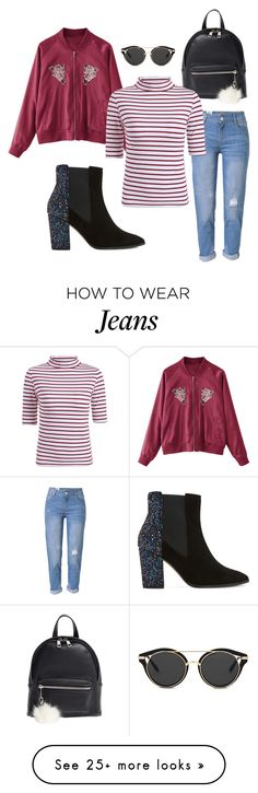"""""""red jeans black"""" by gacds on Polyvore featuring WithChic, BP. and Dune"""