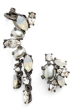 Mismatched Crystal Earrings