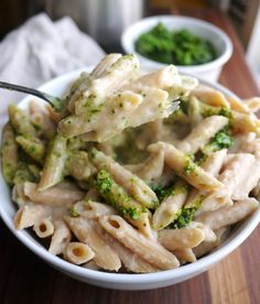 "Garlicky White Bean Pasta ""Faux-Fredo"" - Healthy Recipe Ecstasy"