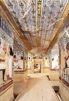 Egypt: The Private Tomb of Sennefer on the West Bank at Luxor (ancient Thebes) Ancient Egyptian Art, Ancient History, Art History, Kemet Egypt, Luxor Egypt, Valley Of The Kings, Tempera, Ancient Civilizations, Monuments