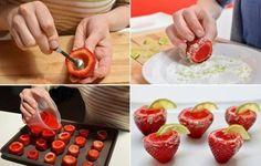 7. Podés seguir el mismo proceso para preparar shots de frutillitas