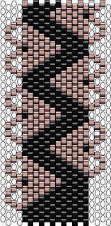 CHEEKYBEADS- peyote bracelet pattern with hearts