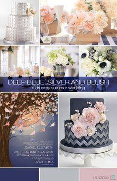 Linen and Silk Weddings, Blue wedding, Silver wedding, Blush wedding, Navy wedding, Colour wedding inspiration, Wedding inspiration, Wedding...
