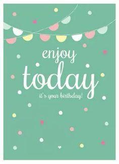 Happy 25th birthday cards 12 cards pinterest 25th birthday text enjoy today its your birthday m4hsunfo