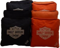 Harley Davidson Cornhole Bags from http://allcornhole.com/shop/custom-logo-all-weather-cornhole-bags/