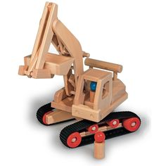 Lovingly made in Germany, our Excavator Truck by Fagus is a well-crafted wooden truck that is ready for action at the construction site! A squeeze of the chunky handle controls the bucket and a crank