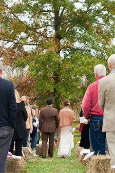 Fall Farm Wedding Ceremony