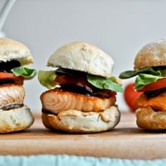 Salmon blt sliders with chipotle mayo #foodgawker