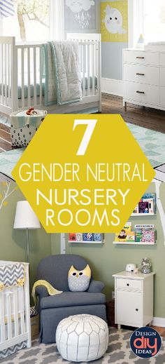 Gender-neutral nursery's are the hot new trend for moms everywhere. Here are a few of the charming gender neutral baby nursery room ideas.