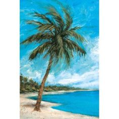 Portfolio Canvas Decor Paradise Palms by Michael Saunders Wall Art, Size: Large 33 inch-40 inch, Multicolor