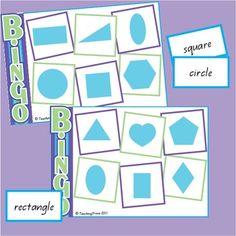 Shape Bingo - identifying 2D shapes - Teaching Trove - TeachersPayTeachers.com