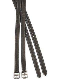 """Gatsby Nylon English Stirrup Leathers 54/"""" Black"""