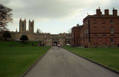 Lincoln Castle grounds, main gate, old prison, Magna Carta museum